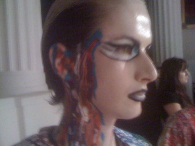 Make Up designed by Michelle Webb for Ziad Ghanem for London Fashion Week SS12
